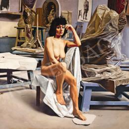 Méhes Lóránt - Műteremben, 1974