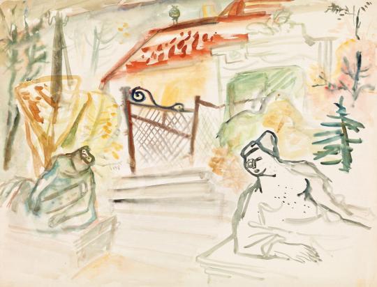 Eladó  Ámos Imre - Emlékek kertje festménye