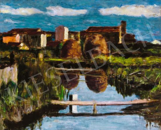 Koszta József - A város határában festménye