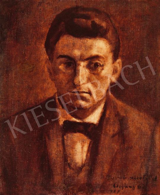 Eladó  Czigány Dezső - Sebestyén Sándor gordonkaművész portréja, 1917 festménye