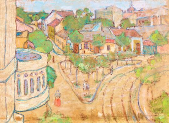 Eladó  Kádár Béla - Kisváros festménye
