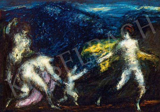 Eladó  Vaszary János - Ámor nimfákkal, 1920 körül festménye
