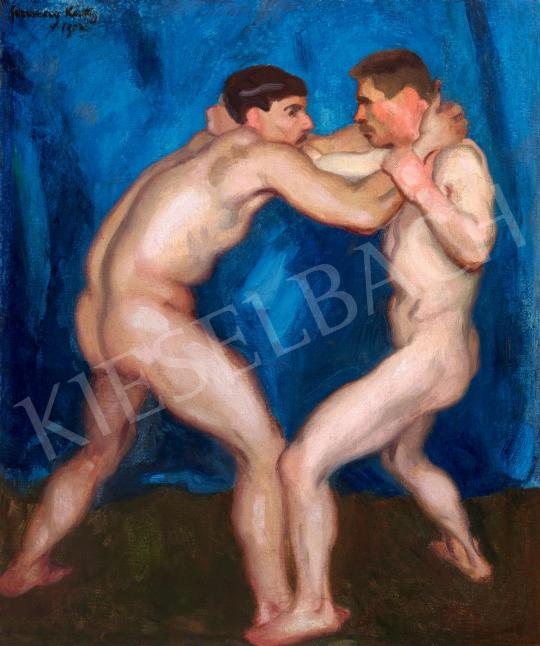 For sale Ferenczy, Károly - Wrestlers, 1912 's painting