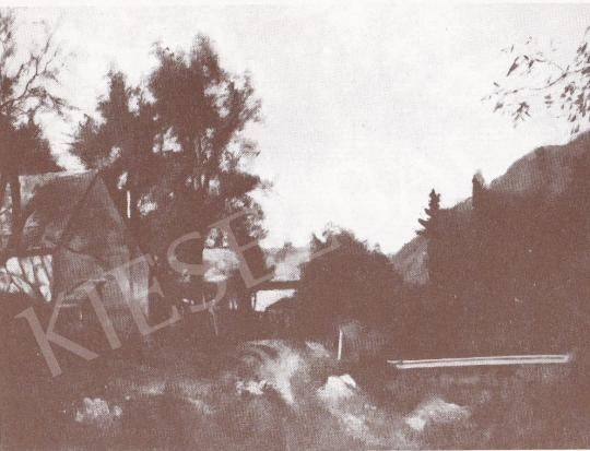 Bánovszky, Miklós - Houses in Mountain Landscape, 1981 painting