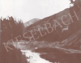 Bánovszky Miklós - Hegyi táj a Garam régi medrével, 1980