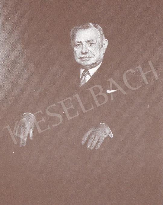 Bánovszky Miklós - Köves János igazgató portréja, 1963 festménye