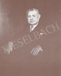 Bánovszky Miklós - Köves János igazgató portréja, 1963