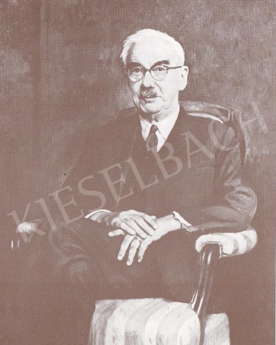 Bánovszky Miklós - Manninger Rezső igazgató portréja, 1963 festménye