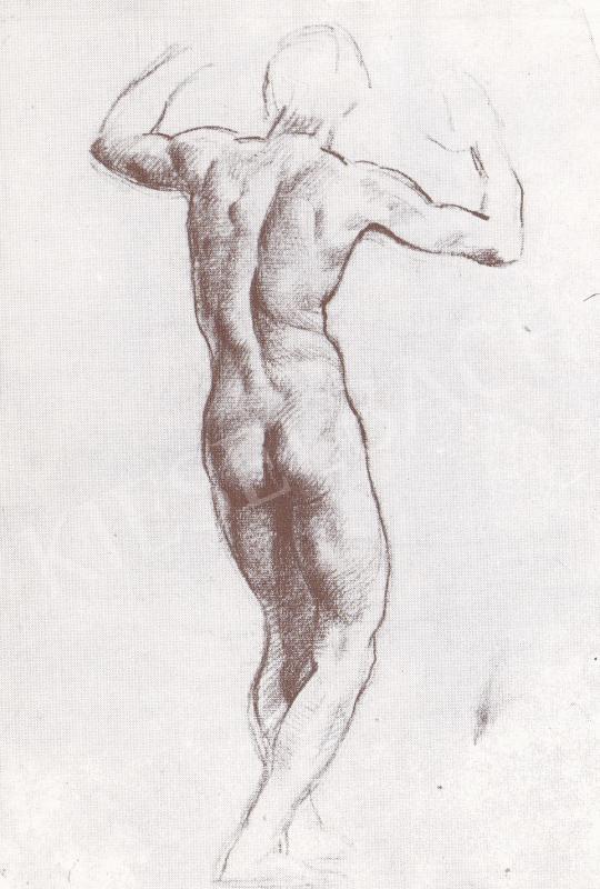 Bánovszky Miklós - Férfi hátakt, 1922 festménye