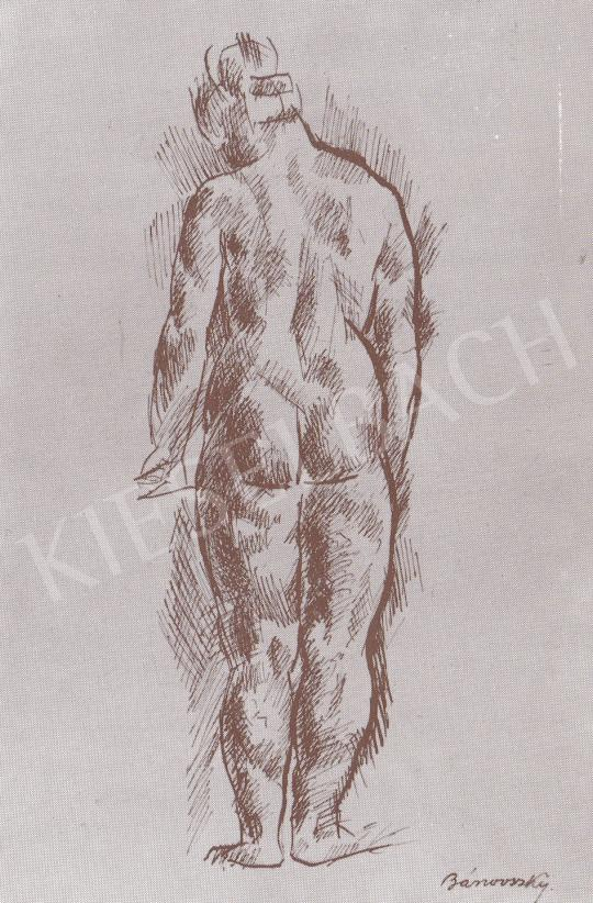 Bánovszky Miklós - Női hátakt, 1923 festménye