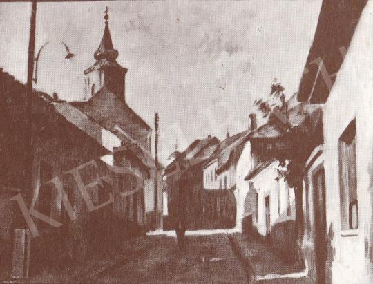 Bánovszky, Miklós - Street in Szentendre, c. 1960 painting