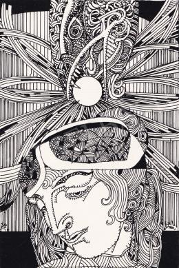 Szász Endre - Art Deco női portré