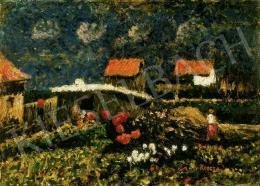 Koszta József - Hátsó kert virágokkal (1920 - as évek)
