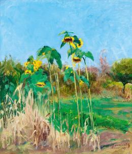Benkhard, Ágost - Sunflowers, 1947