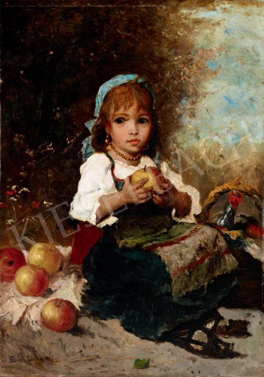 Eladó Bruck Lajos - Kislány almával festménye