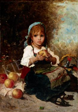 Bruck, Lajos - Little Girl with Apple