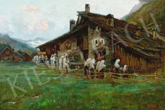Eladó  Gariazzo, Pier Antonio - Hegyvidéki táj, 1906 festménye
