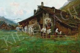 Gariazzo, Pier Antonio - Hegyvidéki táj, 1906