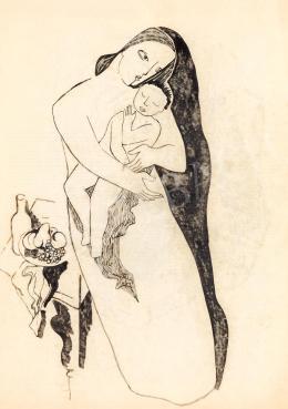 Kádár Béla - Art deco Madonna