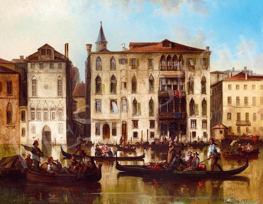 Eladó Püttner, Joseph Carl Bartholomeus - Velence (Canal Grande), 1859 festménye