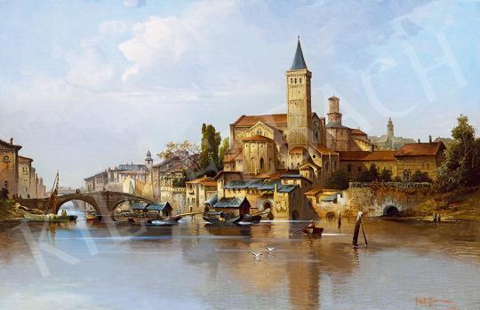 Kaufmann, Karl - Itáliai város festménye
