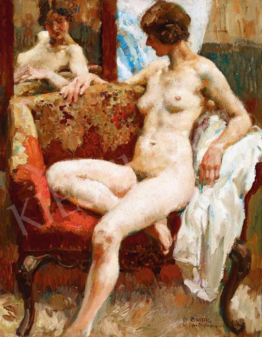 Eladó  Paul Paede - Modell szalonban festménye