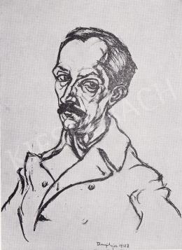 Tihanyi Lajos - Babits Mihály arcképe, 1918