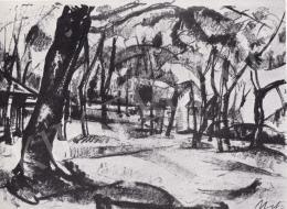 Uitz, Béla - Landscape, 1918