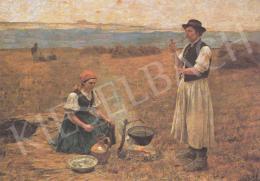 Bihari Sándor - Készül a vacsora, 1889