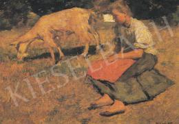 Bihari Sándor - Kecskepásztorlány, 1901