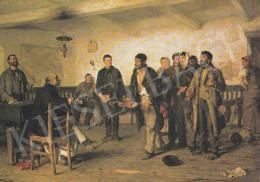 Bihari Sándor - Bíró előtt, 1886, részlet