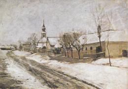 Bihari Sándor - Szolnok faluvég, 1900 k.