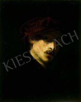 Székely Bertalan - Fiatal férfi portéja, barettel