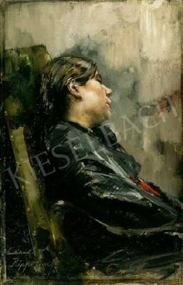 Rippl-Rónai József - Karosszékben pihenő lány (1888)