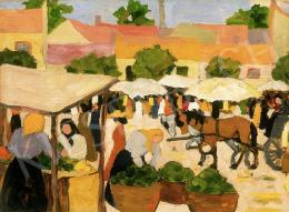 Kádár Béla - Piactér (1910 körül)