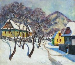 Kádár, Géza - Nagybánya Scene in Winter