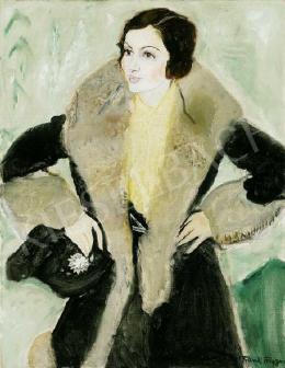 Frank Frigyes - Hölgy sárga selyemblúzban