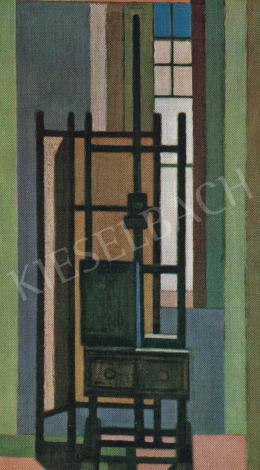 Barcsay Jenő - Állvány az ablak előtt, 1961
