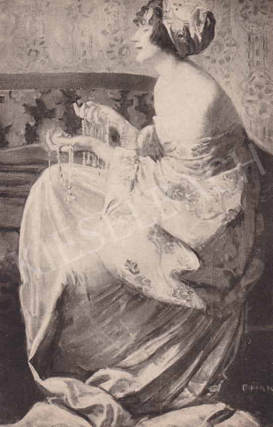 Márk Lajos - Ékszerek festménye
