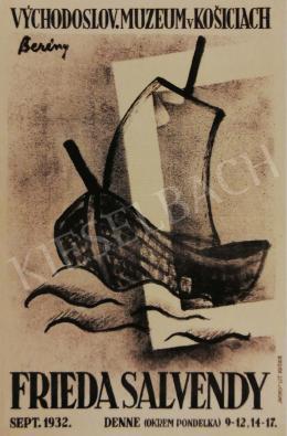 Berény Róbert - Berény Róbert által tervezett plakát Frieda Salvendy kiállításához