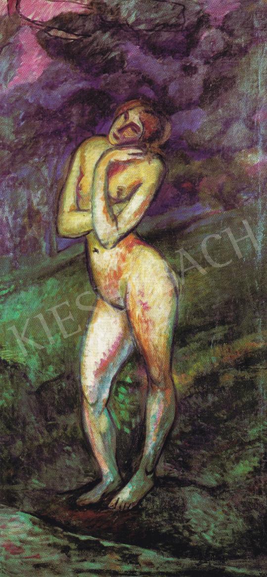 Kernstok, Károly - Standing Woman Nude, 1908 painting