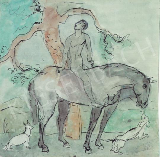 Kernstok Károly - Fiú lovon festménye
