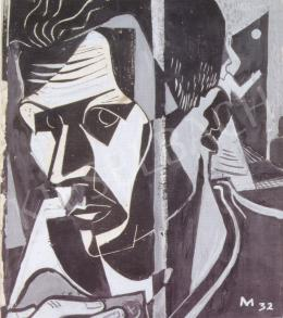 Medveczky Jenő - Önarckép, 1932