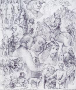 Szabó Vladimir - Emlékezés A. Dürer 500. születésnapjára, 1971