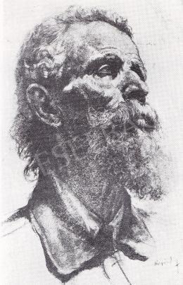 Ruzicskay György - Tanulmány fej