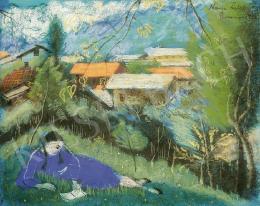 Lehel Mária - Olvasó lány szabadban