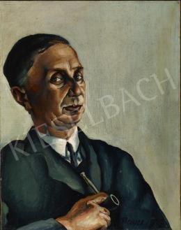 Konstantin Bauer - Férfi pipával, 1927