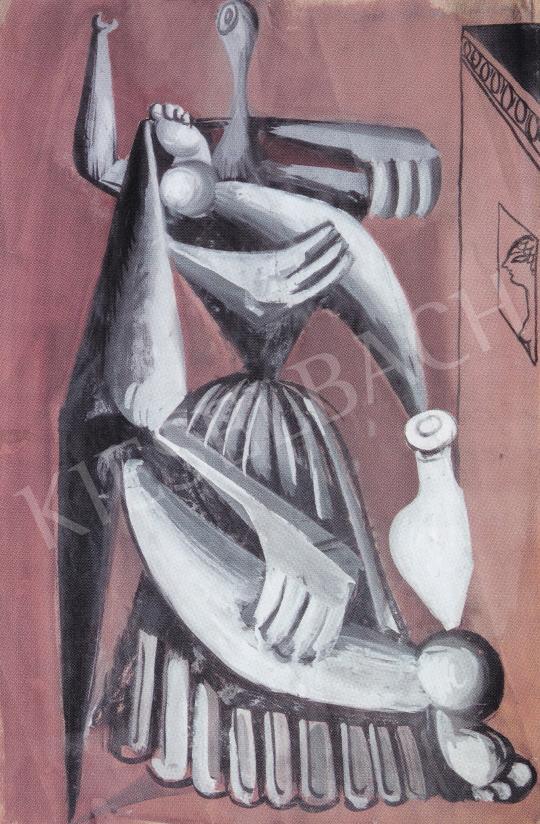 Hincz Gyula - Római jegyzet, 1930 körül festménye