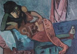 Zemplényi, Magda - Elbowing Nude, c. 1947