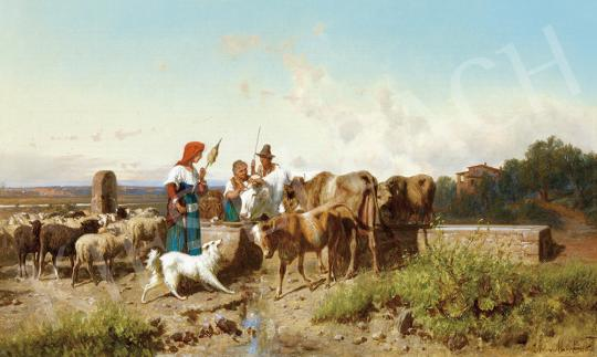 Markó, András - The Campagna in Rome, 1891 painting